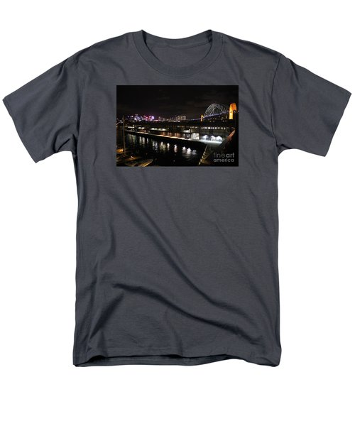 Sydney Harbor At Night Men's T-Shirt  (Regular Fit) by Bev Conover