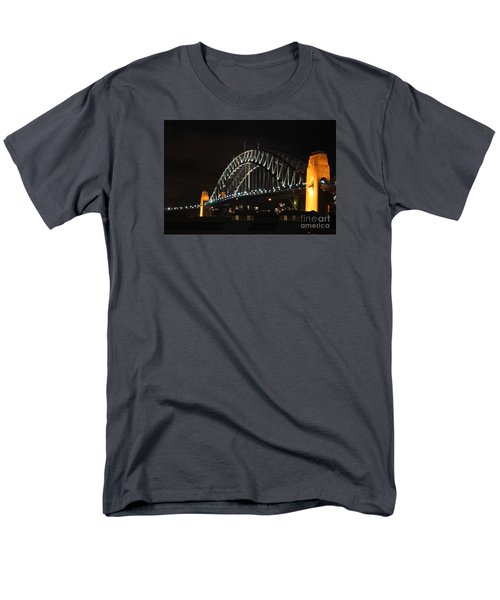Sydney Harbor Bridge At Night Men's T-Shirt  (Regular Fit) by Bev Conover