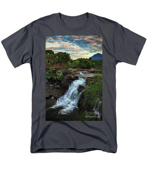Tad Lo Waterfall, Bolaven Plateau, Champasak Province, Laos Men's T-Shirt  (Regular Fit) by Sam Antonio Photography