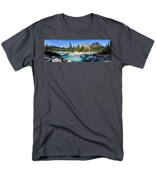 Takakkaw Falls Men's T-Shirt  (Regular Fit) by Brad Allen Fine Art