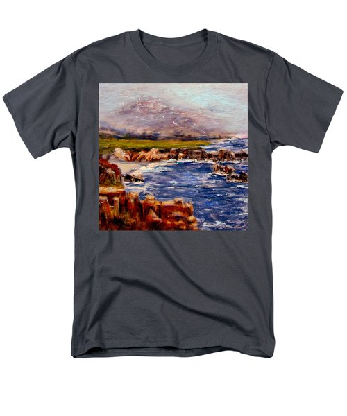 Men's T-Shirt  (Regular Fit) featuring the painting Take Me To The Ocean,, by Cristina Mihailescu