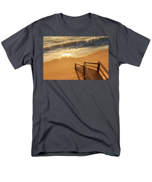 Take The Stairs To The Waves Men's T-Shirt  (Regular Fit)