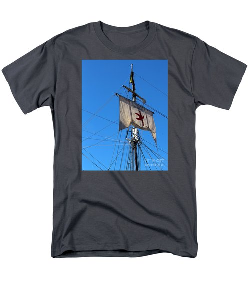 Tall Ship Mast Men's T-Shirt  (Regular Fit) by Cheryl Del Toro