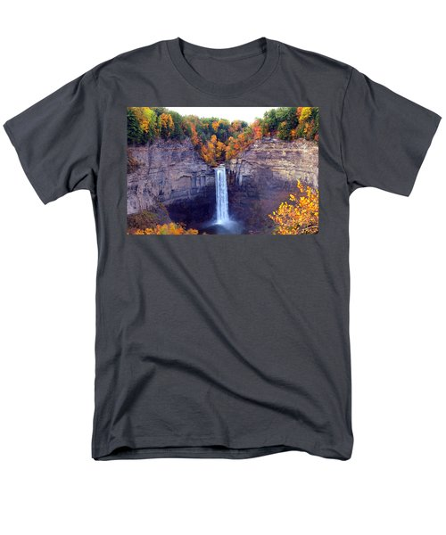 Taughannock Waterfalls In Autumn Men's T-Shirt  (Regular Fit) by Paul Ge