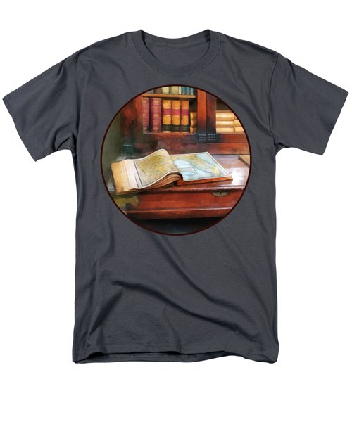 Teacher - Geography Book Men's T-Shirt  (Regular Fit) by Susan Savad