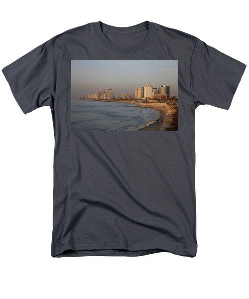 Tel Aviv Coast. Men's T-Shirt  (Regular Fit) by Shlomo Zangilevitch