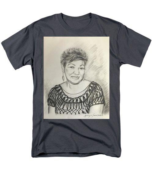 Men's T-Shirt  (Regular Fit) featuring the drawing Tessie Guinto  by Rosencruz  Sumera