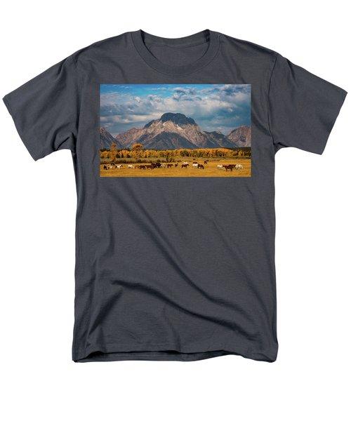 Teton Horse Ranch Men's T-Shirt  (Regular Fit) by Darren White