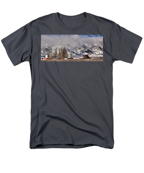 Men's T-Shirt  (Regular Fit) featuring the photograph Teton Mormon Row Panorama by Adam Jewell