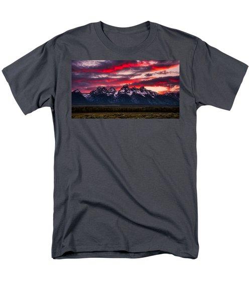 Teton Sunset Men's T-Shirt  (Regular Fit) by Darren White