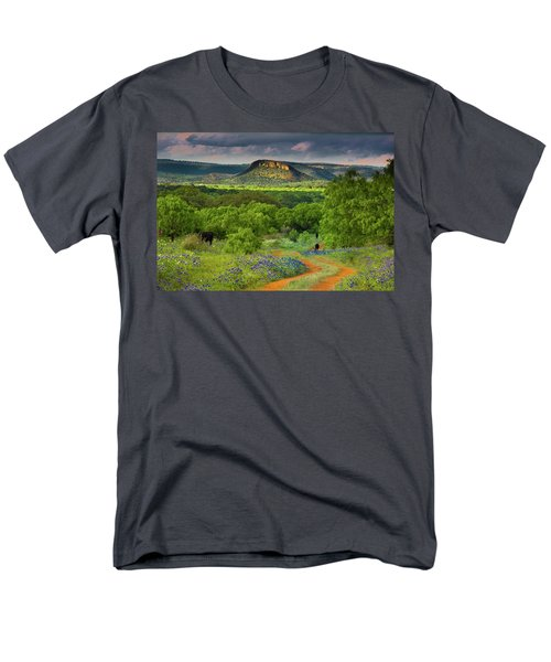 Men's T-Shirt  (Regular Fit) featuring the photograph Texas Hill Country Ranch Road by Darryl Dalton