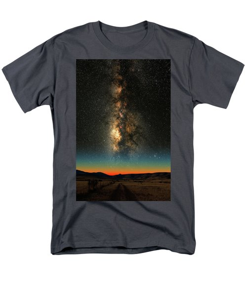 Texas Milky Way Men's T-Shirt  (Regular Fit) by Larry Landolfi