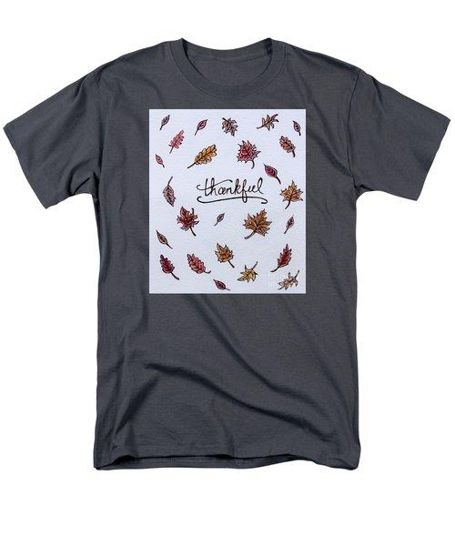 Thankful Men's T-Shirt  (Regular Fit) by Elizabeth Robinette Tyndall