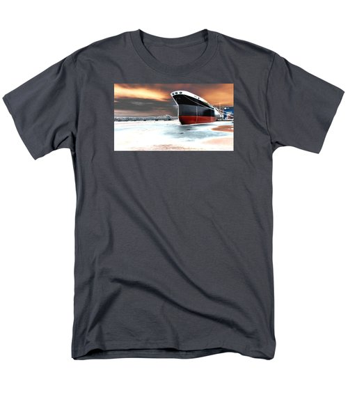 The Ship And The Steel Bridge. Men's T-Shirt  (Regular Fit) by Jake Whalen