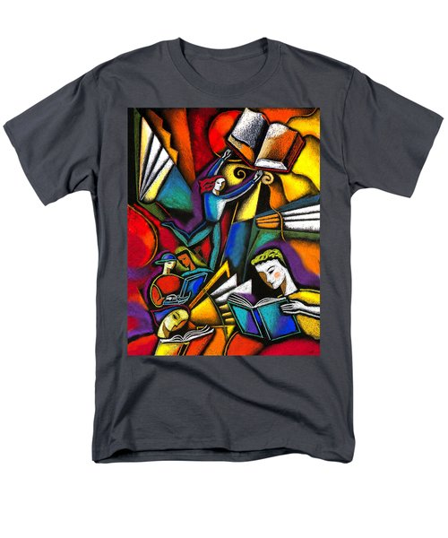 Men's T-Shirt  (Regular Fit) featuring the painting The Art Of Learning by Leon Zernitsky