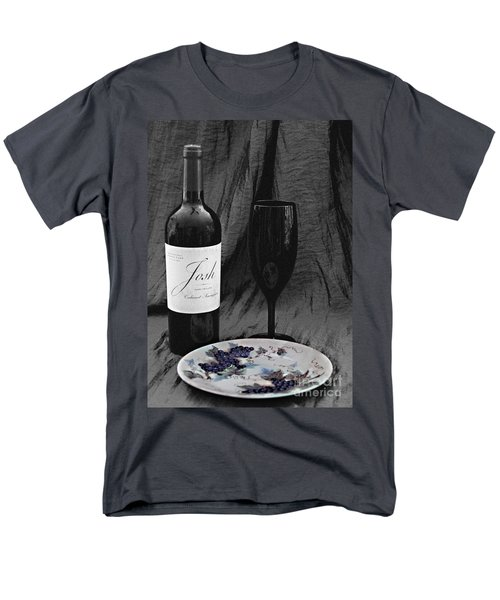 The Art Of Wine And Grapes Men's T-Shirt  (Regular Fit) by Sherry Hallemeier