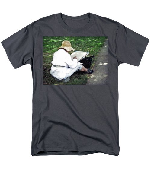 Men's T-Shirt  (Regular Fit) featuring the photograph The Artist by Keith Armstrong