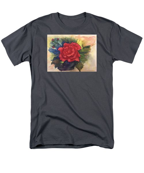 Men's T-Shirt  (Regular Fit) featuring the painting The Beauty Of A Rose by Lucia Grilletto