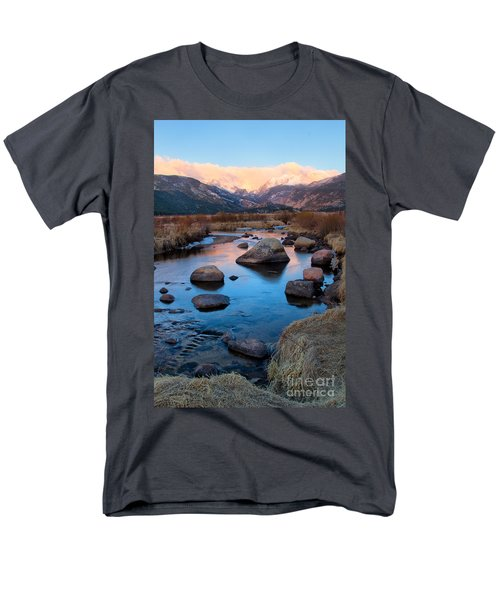 The Big Thompson River Flows Through Rocky Mountain National Par Men's T-Shirt  (Regular Fit) by Ronda Kimbrow