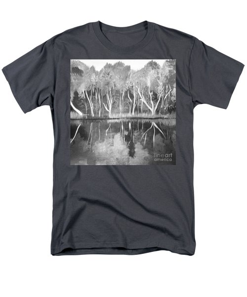 Men's T-Shirt  (Regular Fit) featuring the painting The Black And White Autumn by Art Ina Pavelescu