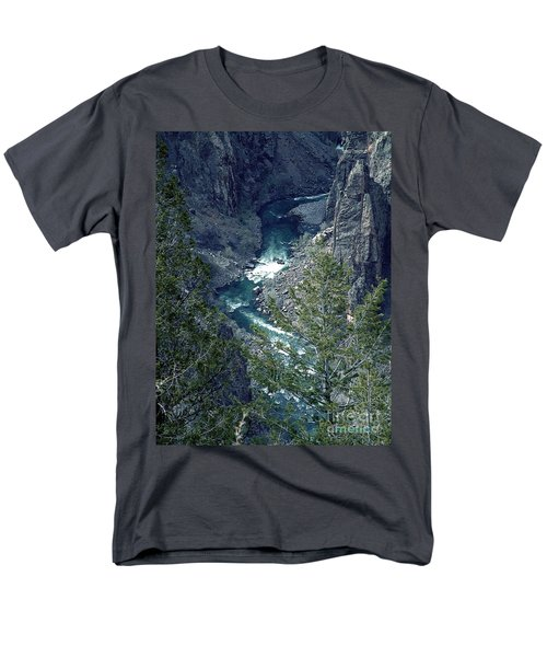 Men's T-Shirt  (Regular Fit) featuring the painting The Black Canyon Of The Gunnison by RC DeWinter