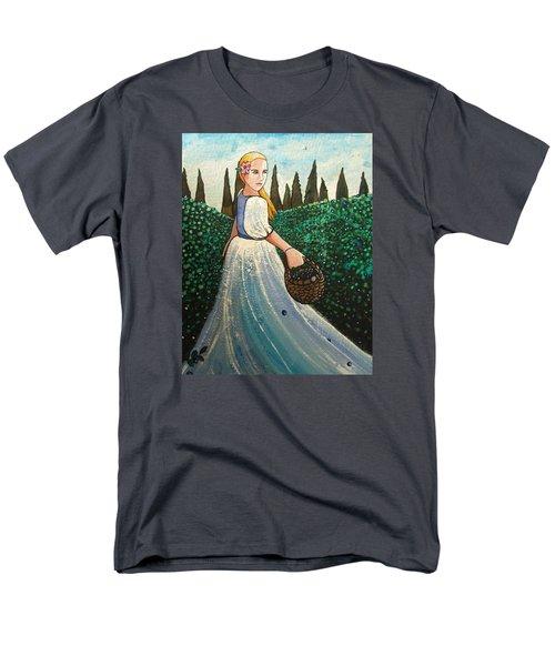 The Blueberry Harvest Men's T-Shirt  (Regular Fit) by Mary Ellen Frazee