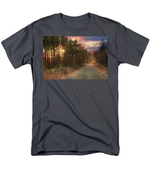 Men's T-Shirt  (Regular Fit) featuring the photograph The Brown Path Before Me by Lori Deiter