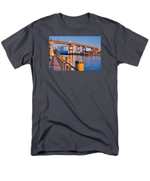 Men's T-Shirt  (Regular Fit) featuring the photograph The Buffalo Skyway by Don Nieman