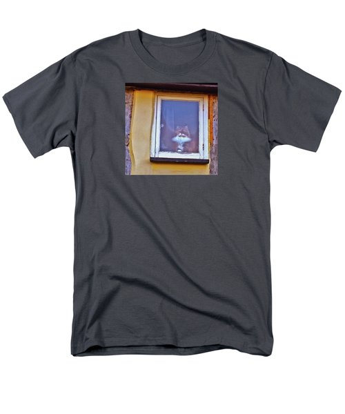 The Cat In The Window Men's T-Shirt  (Regular Fit) by Anne Kotan