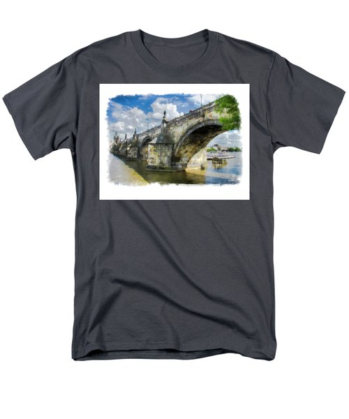 Men's T-Shirt  (Regular Fit) featuring the photograph The Charles Bridge - Prague by Tom Cameron