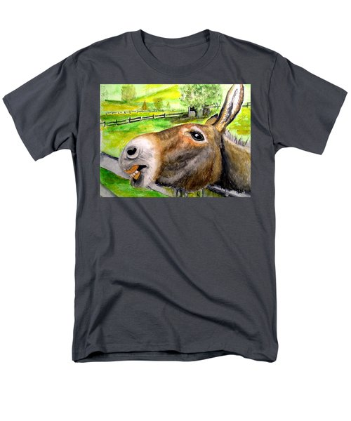 Men's T-Shirt  (Regular Fit) featuring the painting The Country Mule by Carol Grimes