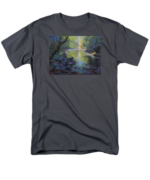 Men's T-Shirt  (Regular Fit) featuring the painting The Creek by Karen Ilari