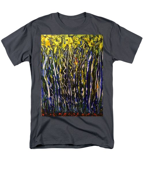 Men's T-Shirt  (Regular Fit) featuring the painting The Dancing Garden by Kicking Bear Productions