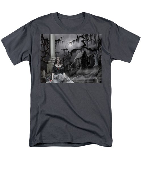 Men's T-Shirt  (Regular Fit) featuring the painting The Dark Caster Awaits by James Christopher Hill