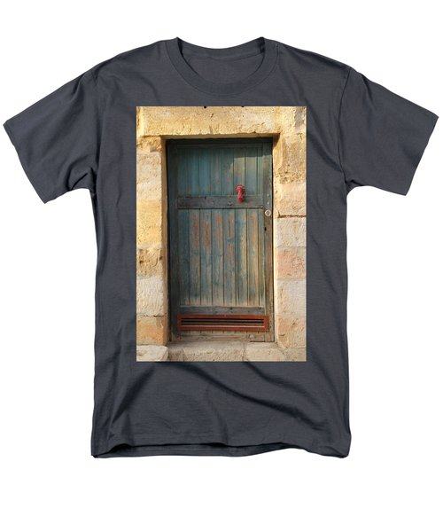 Men's T-Shirt  (Regular Fit) featuring the photograph The Door And The Hand by Yoel Koskas