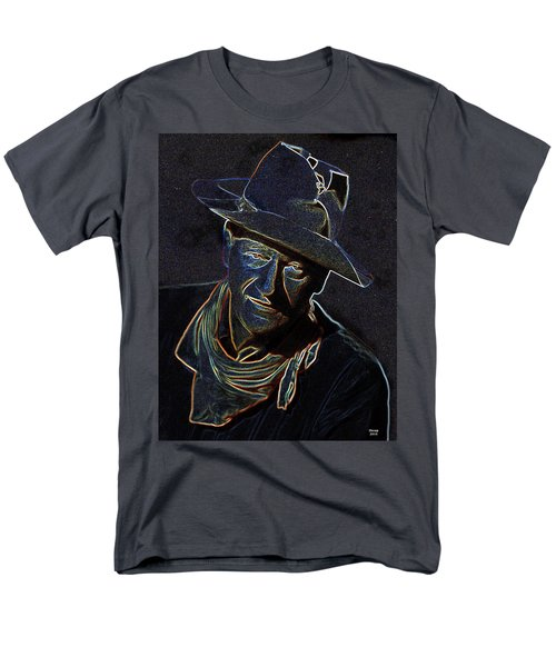 Men's T-Shirt  (Regular Fit) featuring the mixed media The Duke by Charles Shoup