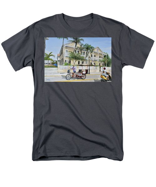 Men's T-Shirt  (Regular Fit) featuring the painting The Duval House, Key West, Florida by Bob George