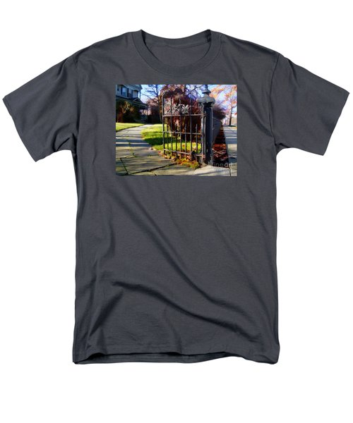 Men's T-Shirt  (Regular Fit) featuring the photograph The Gate by Betsy Zimmerli