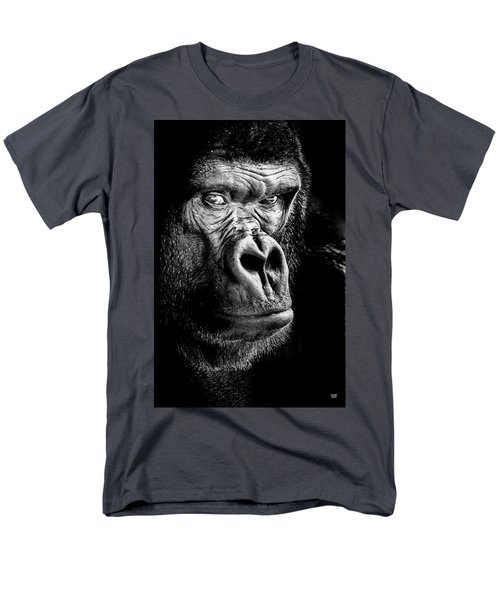 The Gorilla Large Canvas Art, Canvas Print, Large Art, Large Wall Decor, Home Decor Men's T-Shirt  (Regular Fit) by David Millenheft