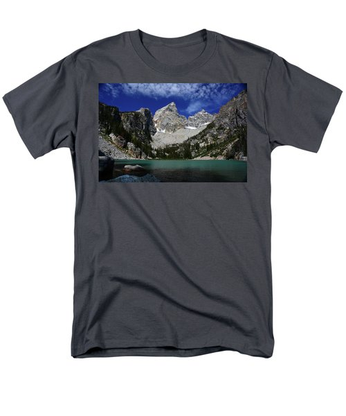 The Grand And Mount Owen From Delta Lake Men's T-Shirt  (Regular Fit) by Raymond Salani III