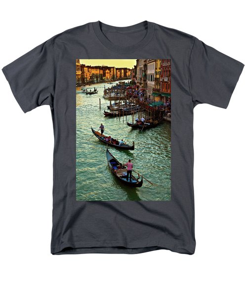 Men's T-Shirt  (Regular Fit) featuring the photograph The Grand Canal Venice by Harry Spitz