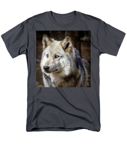 Men's T-Shirt  (Regular Fit) featuring the photograph The Gray Wolf by Teri Virbickis