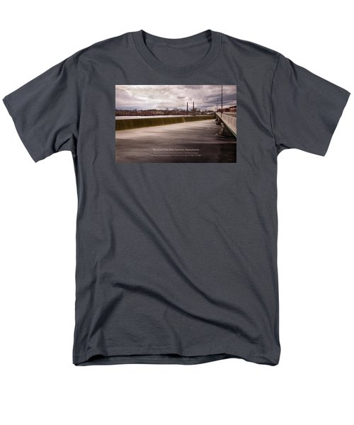 Men's T-Shirt  (Regular Fit) featuring the photograph The Great Stone Dam Lawrence, Massachusetts by Betty Denise