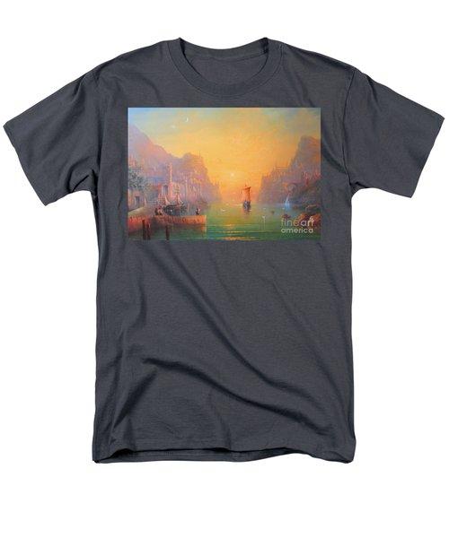 The Grey Havens. The Gulls Lament.  Oil On Canvas Men's T-Shirt  (Regular Fit) by Joe  Gilronan