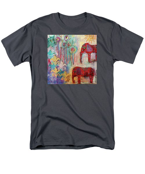 Men's T-Shirt  (Regular Fit) featuring the mixed media The Guardians Of Night And Day by Mimulux patricia no No