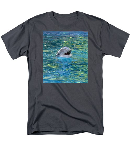 The Happy Dolphin Men's T-Shirt  (Regular Fit) by Nikki McInnes