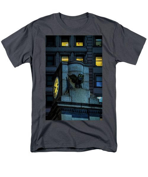 Men's T-Shirt  (Regular Fit) featuring the photograph The Herald Square Owl by Chris Lord