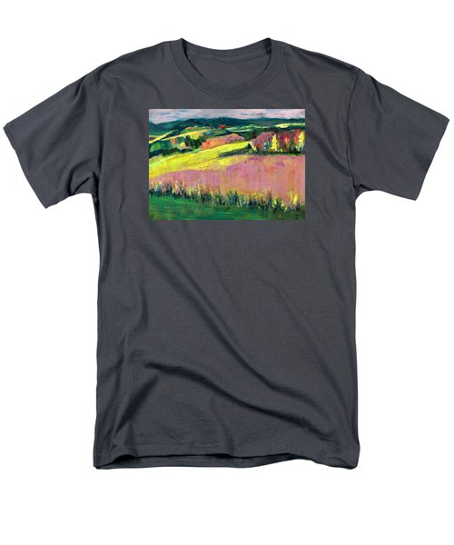 Men's T-Shirt  (Regular Fit) featuring the painting The Hills Are Alive by Betty Pieper