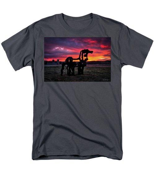 The Iron Horse Sun Up Men's T-Shirt  (Regular Fit) by Reid Callaway