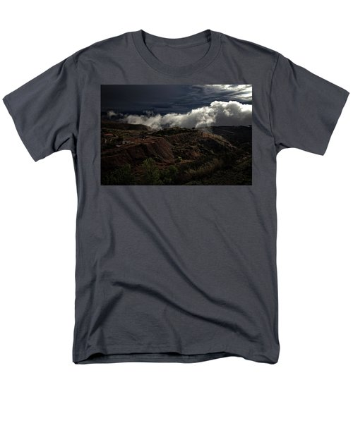 The Jerome State Park With Low Lying Clouds After Storm Men's T-Shirt  (Regular Fit) by Ron Chilston
